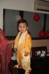 Missed yet another family function- 1st B'day of my son